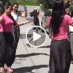 Şalvarlı köy kızları düğünde fena döktürmüşler