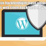 Web sitemin hacklendiğini nasıl anlarım? WordPress web sitem hacklandı ne yapmalıyım?
