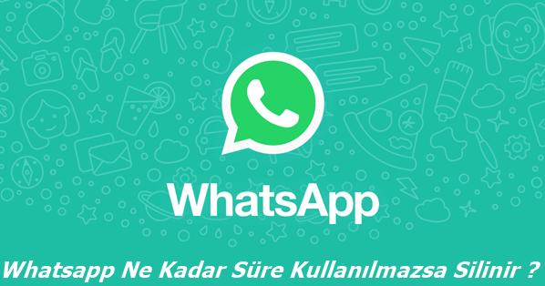 Whatsapp Ne Kadar Süre Kullanılmazsa Silinir?